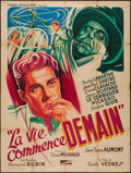 """Movie Posters:Foreign, Life Begins Tomorrow (Cinema Productions, 1950). French Grande (46"""" X 63""""). Foreign.. ..."""