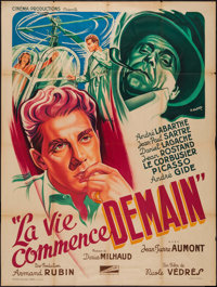 """Life Begins Tomorrow (Cinema Productions, 1950). French Grande (46"""" X 63""""). Foreign"""