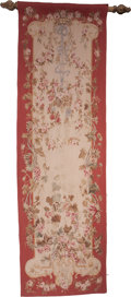 Decorative Arts, French:Other , A French Wool Floral Runner Tapestry, circa 1900. 122 inches high x36-3/8 inches wide (309.9 x 92.3 cm). ...