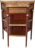 Furniture : French, A Louis XVI-Style Mahogany, Gilt Bronze and Marble Console Tableattributed to Paul Sormani, Paris, France, circa 1890. Mark...