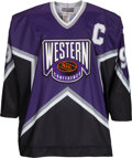 Hockey Collectibles:Uniforms, 1994 Wayne Gretzky Game Worn & Signed All-Star Jersey....
