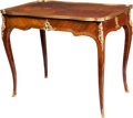 Furniture , A François Linke Louis XV-Style Mahogany, Kingwood, and Marquetry Gilt Bronze-Mounted Writing Table, Paris, France, circa 19...