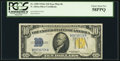Small Size:World War II Emergency Notes, Late Finished Face Plate 86 Fr. 2309 $10 1934A North Africa Silver Certificate. PCGS Choice About New 58PPQ.. ...