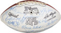 Football Collectibles:Balls, 1974 Washington Redskins Team Signed Football - With LOA from Dave Robinson....