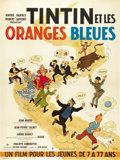 "Movie Posters:Adventure, Tintin and the Blue Oranges (Pathe Consurtium Cinema, 1964). FrenchGrande (47"" X 63""). ..."