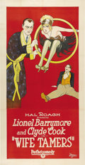 "Movie Posters:Comedy, Wife Tamers (Pathe', 1926). Three Sheet (41"" X 81""). ..."