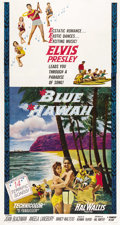 "Movie Posters:Elvis Presley, Blue Hawaii (Paramount, 1961). Three Sheet (41"" X 81""). ..."