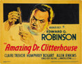 "Movie Posters:Crime, The Amazing Dr. Clitterhouse (Warner Brothers, 1938). Title LobbyCard (11"" X 14""). ..."