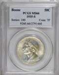 Commemorative Silver: , 1935-S 50C Boone MS66 PCGS. PCGS Population (172/17). NGC Census: (155/31). Mintage: 5,005. Numismedia Wsl. Price for NGC/P...