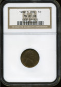 Lincoln Cents: , 1909-S VDB 1C MS61 Brown NGC. ...