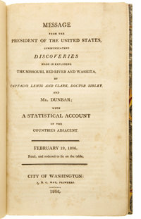 Merriwether Lewis, William Clark and Thomas Jefferson: Message from the President of the United States, Communi