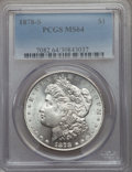 Morgan Dollars: , 1878-S $1 MS64 PCGS. PCGS Population (15158/4940). NGC Census: (15684/4721). Mintage: 9,774,000. CDN Wsl. Price for problem...