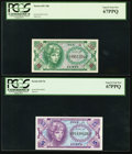Military Payment Certificates:Series 641, Series 641 5¢ and 10¢ PCGS Superb Gem New 67PPQ.. ... (Total: 2notes)