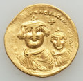 Ancients:Byzantine, Ancients: Heraclius & Heraclius Constantine (613-641). AVsolidus (4.39 gm)....