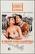 "Movie Posters:Foreign, Two Nights with Cleopatra & Others Lot (Ultra Film, 1964). One Sheets (3) & International One Sheet (27"" X 41""). Foreign.. ... (Total: 4 Items)"