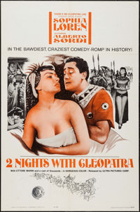 "Two Nights with Cleopatra & Others Lot (Ultra Film, 1964). One Sheets (3) & International One Sheet (27"" X..."