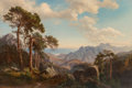 Fine Art - Painting, European:Antique  (Pre 1900), Carl Maria Nicolaus Hummel (German, 1821-1907). Mountainous Landscape. Oil on canvas. 26 x 37-1/4 inches (66 x 94.6 cm)...