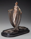 Bronze:Contemporary, An Erté Cold Painted Bronze Sculpture: La Mysteriuese, circa1980. Marks: (artist's cipher), 81/250, RKP INT C...