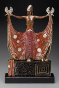 Bronze:Contemporary, An Erté Cold Painted Bronze Sculpture on Marble Base: Venus,circa 1987. Marks: (artist's cipher), c 1987, CHA...