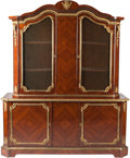 Furniture : French, A Napoleon III Mahogany Secretary Cabinet with Gilt Bronze Mounts,mid-19th century. 87 h x 71-1/4 w x 23 d inches (221.0 x ...(Total: 2 Items)