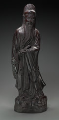 Asian:Chinese, A Bronzed Ceramic Figure of a Chinese Sage, late 2...