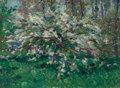 Fine Art - Painting, European:Modern  (1900 1949)  , French School (20th Century). Flowering Tree. Oil on canvas.23-1/2 x 32 inches (59.7 x 81.3 cm). Signed indistinctly lo...