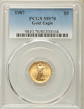 Modern Bullion Coins, 1987 G$5 Tenth-Ounce Gold Eagle MS70 PCGS....