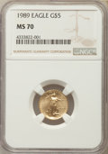 Modern Bullion Coins, 1989 $5 Tenth-Ounce Gold Eagle MS70 NGC....