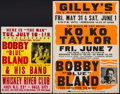 """Movie Posters:Musical, Bobby """"Blue"""" Bland Concert Poster Lot (Various, 1970s). Concert Window Cards (2) (17"""" X 22"""" & 22"""" X 30.5""""). Musical.. ... (Total: 2 Items)"""