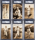 Baseball Collectibles:Photos, 1931 Tour of Japan Bromide Signed Postcards with Maranville, Kelly& Grove Lot of 6, PSA/DNA Authentic. ...