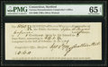 Colonial Notes:Connecticut, Connecticut Oliver Wolcott Comptroller Receipt 16s.10d September 4,1789 PMG Gem Uncirculated 65 EPQ.. ...