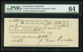 Colonial Notes:Connecticut, Connecticut Oliver Wolcott Comptroller Receipt 15s.6d September 17,1789 PMG Choice Uncirculated 64.. ...