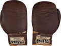 Boxing Collectibles:Memorabilia, 1964 Sonny Liston Fight Worn Gloves from First Cassius Clay Bout....