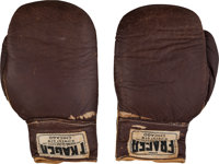1964 Sonny Liston Fight Worn Gloves from First Cassius Clay Bout