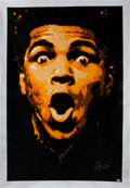 Boxing Collectibles:Autographs, 2000's Muhammad Ali Signed Oversized Giclee on Canvas. ...