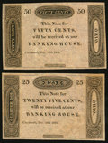 Obsoletes By State:Ohio, Cincinnati, OH- (Banking House of J.H. Piatt & Co.) 25?; 50?Dec. 29, 1818 Remainders... (Total: 2 notes)