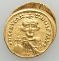 Ancients:Byzantine, Ancients: Constans II (641-654). AV solidus (4.38 gm). ...