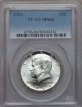 Kennedy Half Dollars, (2) 1964 50C MS66 PCGS. PCGS Population (1333/54). NGC Census:(1015/49). Mintage: 273,300,000.... (Total: 2 coins)