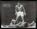 Boxing Collectibles:Autographs, 1965 Muhammad Ali Signed Massive Photograph of Liston II Knockout....