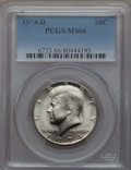 Kennedy Half Dollars, (4)1974-D 50C MS66 PCGS. PCGS Population (210/26). NGC Census:(112/9). Mintage: 79,066,304.... (Total: 4 coins)