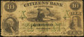 Obsoletes By State:Louisiana, New Orleans, LA- Citizens' Bank of Louisiana Counterfeit $10 Aug. 15, 1859. ...