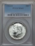 Kennedy Half Dollars, (8) 1964-D 50C MS65 PCGS. PCGS Population (1258/729). NGC Census:(1846/422). Mintage: 156,205,440.... (Total: 8 coins)