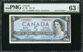 Canadian Currency: , BC-39c $5 1954 with Serial Number 1. ...