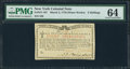Colonial Notes:New York, New York March 5, 1776 (Water Works) 8s PMG Choice Uncirculated64.. ...