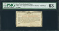 Colonial Notes:New York, New York August 2, 1775 (Water Works) 4s PMG Choice Uncirculated63.. ...