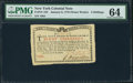 Colonial Notes:New York, New York January 6, 1776 (Water Works) 8s PMG Choice Uncirculated64.. ...