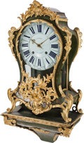 Timepieces:Clocks, A Louis XV-Style Painted and Gilt Bronze-Mounted Bracket Clock, late 18th-19th century. Marks to clock face: CHAMOIS A BOR...