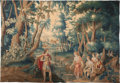 Textiles, A Flemish Silk and Wool Allegorical Tapestry : Diana and Actaeon, late 17th-early 18th century. 83-1/4 inches hi...