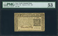 Colonial Notes:New York, New York March 5, 1776 $10 PMG About Uncirculated 53.. ...