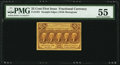 Fractional Currency:First Issue, Fr. 1281 25¢ First Issue PMG About Uncirculated 55.. ...